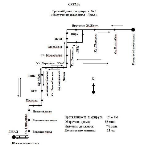 Троллейбусный маршрут № 11