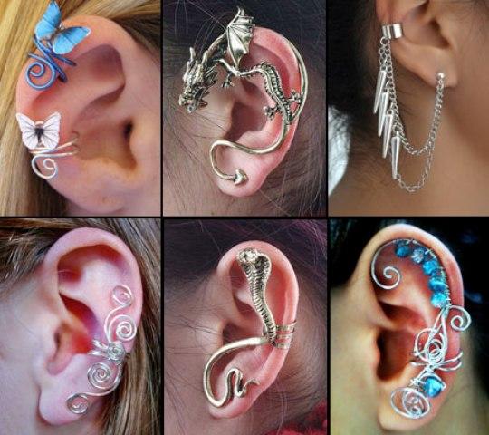 Виды сережек для ушей