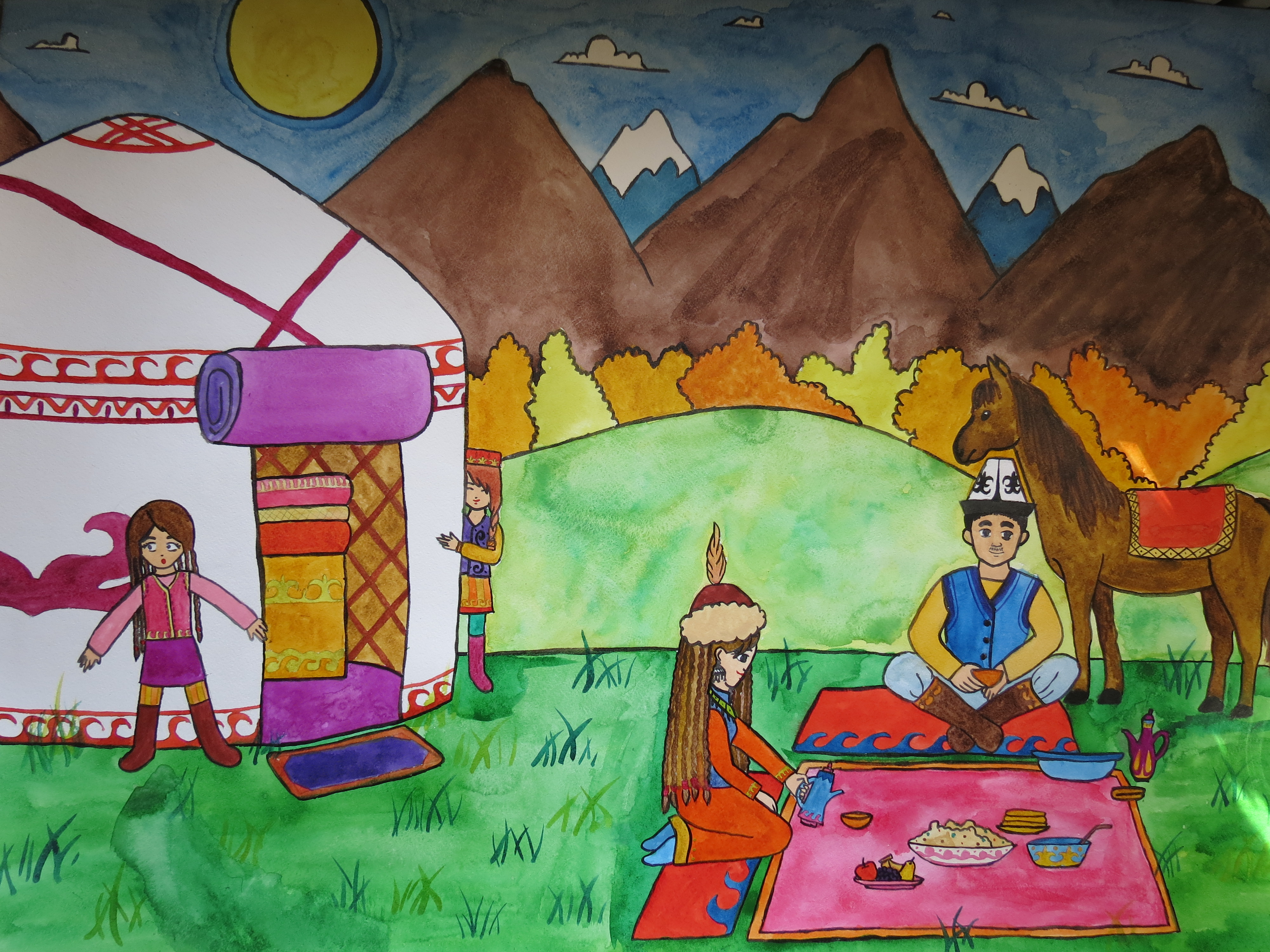 В Бишкеке откроется выставка детского рисунка «Кыргызстан в моих рисунках»