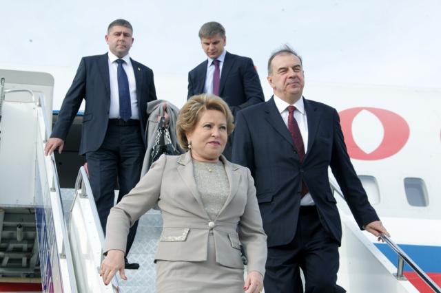 В Кыргызстан прибыла председатель Совета Федерации России Валентина Матвиенко