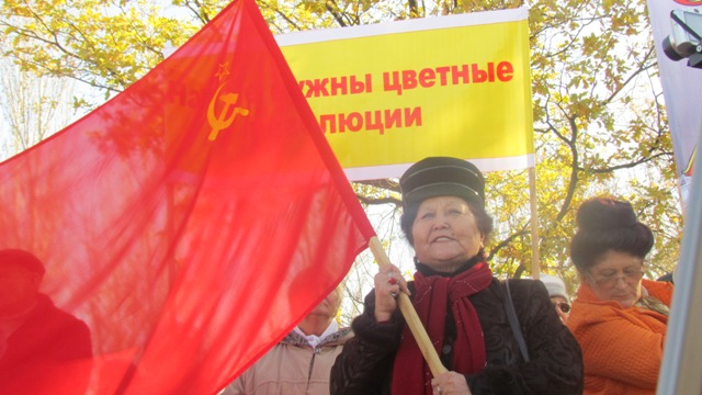 В Бишкеке проходит акция против приезда Джоджа Сороса в Кыргызстан