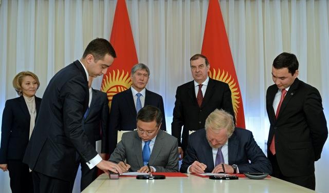 Кыргызстан и Россия подписали соглашение о Фонде развития с уставным капиталом в $500 млн