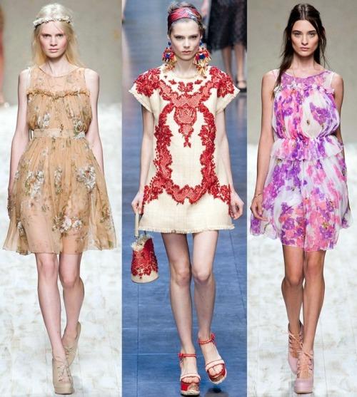 Модные тренды весна-лето 2013