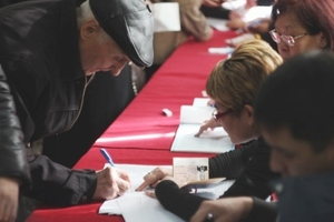 В Нарынской области проголосовало 27 % избирателей