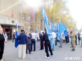 У здания ЦИК прошел малочисленный митинг