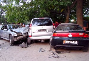 Крупная авария в Бишкеке