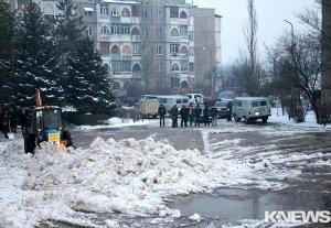 Набережная десятого микрорайона в Бишкеке затоплена