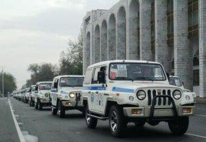 Центр ОБСЕ передал автомобили сельским отделениям милиции Кыргызстана