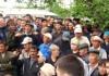 Число митингующих в Оше пока не превышает 60 человек