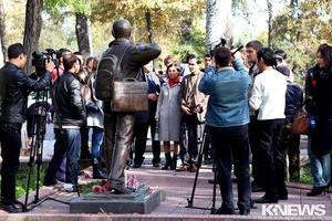 В Бишкеке прошла акция памяти по погибшим журналистам