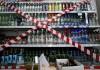 В гипермаркетах Бишкека изъято порядка 1 тыс. бутылок водки с сомнительными акцизными марками