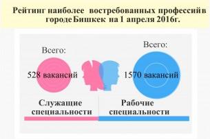 Самые популярные профессии в Бишкеке