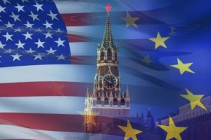 США Россия ЕС Флаг