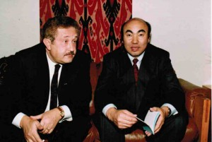 Борис Бирнштейн и Аскар Акаев