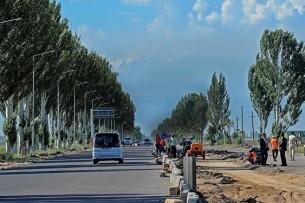 Западная сторона дороги Бишкек – аэропорт «Манас» закрыта на ремонт