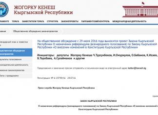 Проект новой Конституции Кыргызстана вынесли на общественное обсуждение (текст)