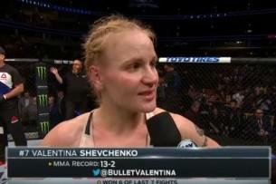 Валентина Шевченко заняла первое место в рейтинге UFC