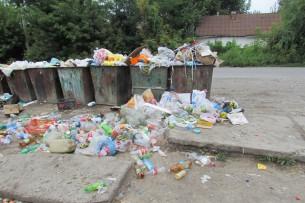 «Тазалык» убрал мусорные баки из-под окон дома бишкекской пенсионерки