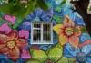 Шестиметровое граффити с цветами появилось в Бишкеке