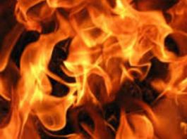 Очевидец: Близ Бишкека на дороге загорелся КамАЗ (видео)