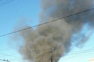 В Бишкеке горит частная школа (видео)