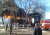 Площадь возгорания на складе в Бишкеке составила 2,5 тыс. квадратных метров