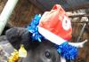 Первая идентифицированная корова Зорька поздравляет домашних животных и птиц Кыргызстана с Новым годом