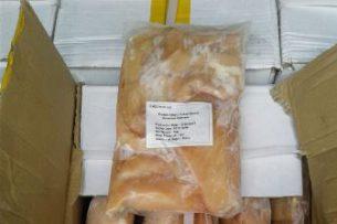 В Кыргызстан пытались ввезти куриных грудок почти на 0,5 млн сомов