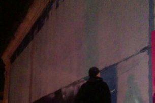 Граффити с китами по улице Панфилова закрасил неизвестный мужчина