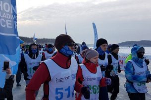 Кыргызстанец принял участие в Ледовом полумарафоне во Владивостоке