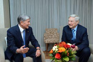 Алмазбек Атамбаев встретился с Джорджем Соросом