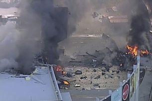 В Мельбурне самолет упал на торговый центр