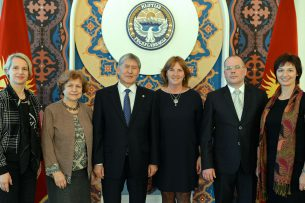 Алмазбек Атамбаев принял делегацию Европейского парламента
