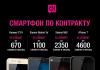 «Смартфон по контракту» – уникальная возможность купить смартфон в рассрочку от мобильного оператора О!