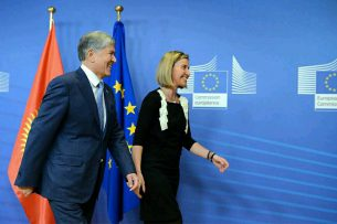 Атамбаев встретился с Верховным представителем Евросоюза Федерикой Могерини