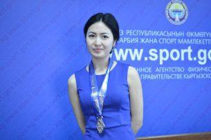 Кыргызстанка завоевала «золото» на международном турнире по пулевой стрельбе