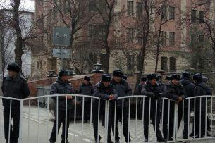 В Бишкеке проходит очередной митинг в поддержку Текебаева