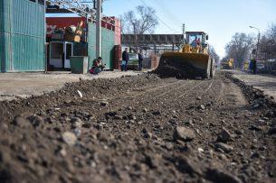 Руководство мэрии проинспектировало капитальное строительство дорог Бишкека