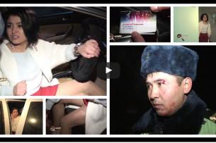 Алтынай Жайнакову, рассекшую бровь сотруднику Патрульной милиции, оштрафовали на 30 тыс. сомов