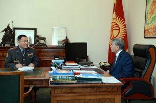 Президент и глава МВД обсудили охрану общественного порядка в стране