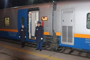 Из Алматы в Ташкент отправился новый пассажирский поезд