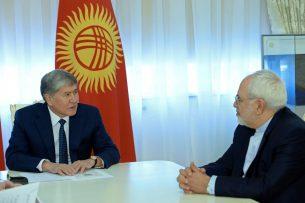 Алмазбек Атамбаев встретился с министром иностранных дел Ирана