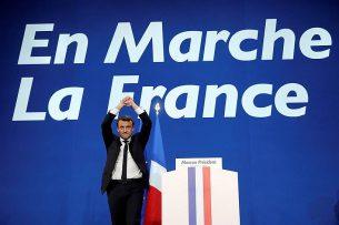 Эмманюэль Макрон выиграл первый тур выборов президента Франции