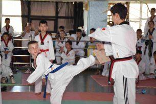 В Бишкеке определили лучших таэквондистов среди детей и юниоров