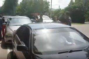В Бишкеке выпускники устроили погоню