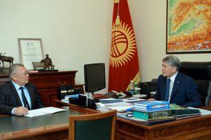 Президент и глава Ассамблеи народа Кыргызстана обсудили вопросы управления межэтническими отношениями