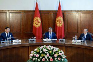 Алмазбек Атамбаев принял руководителей органов безопасности и спецслужб стран СНГ