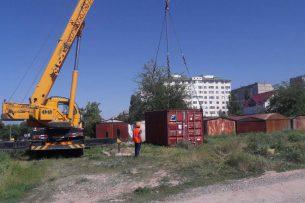 Столичная мэрия демонтировала незаконно установленные контейнеры