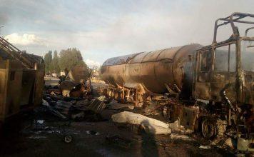 На газозаправочной станции в Ананьево произошел пожар: двое погибли, восемь человек пострадали (фото)