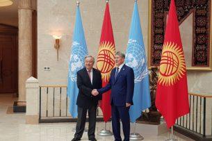 Алмазбек Атамбаев встретился с Генсеком ООН Антониу Гутерришем